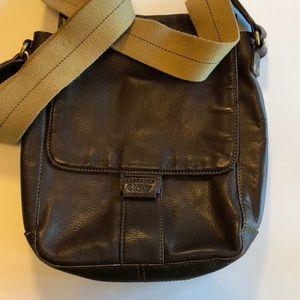 UGG Brown Leather Crossbody Purse